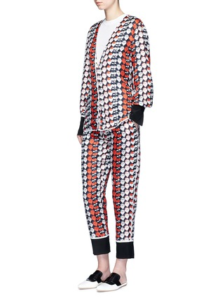 Figure View - Click To Enlarge - VICTORIA, VICTORIA BECKHAM - Strawberry cherry print silk twill pyjama pants