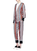 Strawberry cherry print silk twill pyjama pants