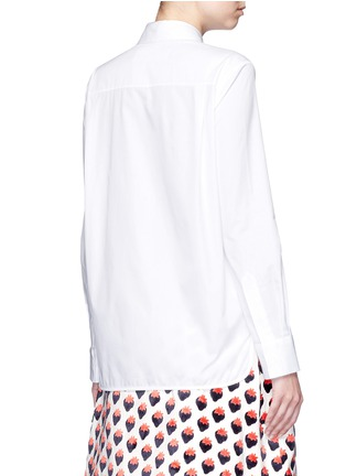 Back View - Click To Enlarge - VICTORIA, VICTORIA BECKHAM - Butterfly bow poplin shirt