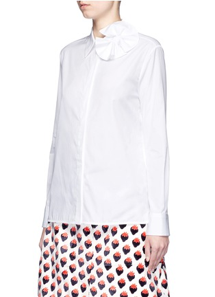 Front View - Click To Enlarge - VICTORIA, VICTORIA BECKHAM - Butterfly bow poplin shirt