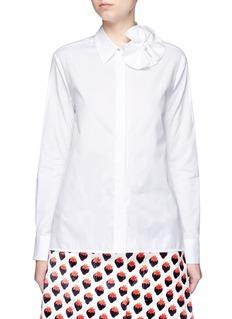 VICTORIA, VICTORIA BECKHAMButterfly bow poplin shirt
