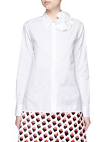 Butterfly bow poplin shirt