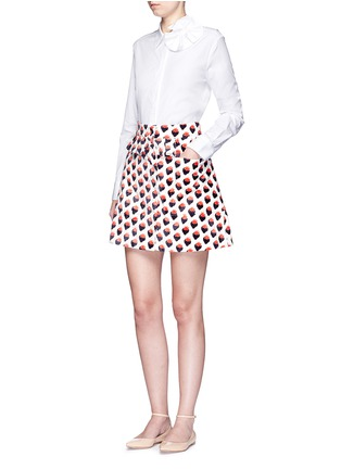 Figure View - Click To Enlarge - VICTORIA, VICTORIA BECKHAM - Butterfly bow poplin shirt