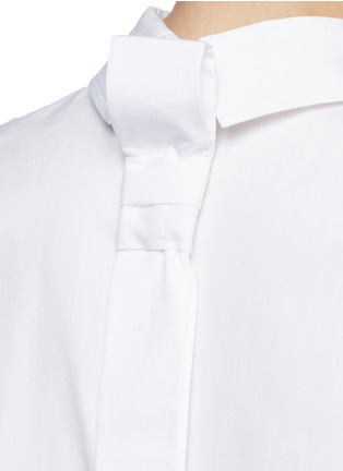 Detail View - Click To Enlarge - VICTORIA, VICTORIA BECKHAM - Tie back poplin sleeveless shirt