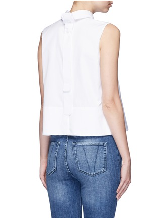Back View - Click To Enlarge - VICTORIA, VICTORIA BECKHAM - Tie back poplin sleeveless shirt