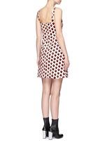 Strawberry jacquard plunge V-neck dress