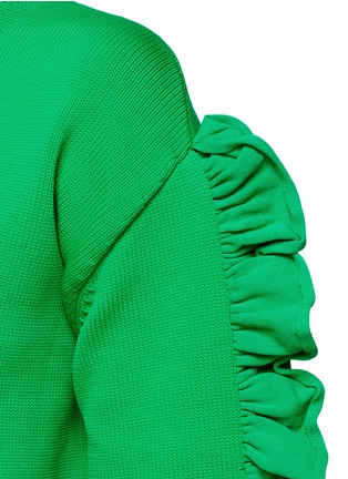 Detail View - Click To Enlarge - VICTORIA, VICTORIA BECKHAM - Ruffle sleeve sweater