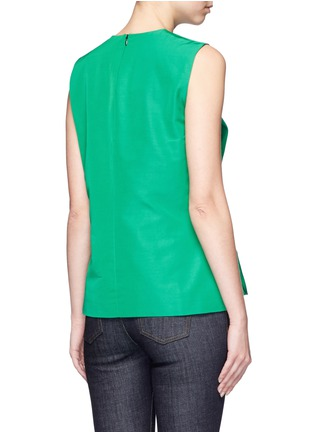 Back View - Click To Enlarge - VICTORIA, VICTORIA BECKHAM - Twist bow faille sleeveless top