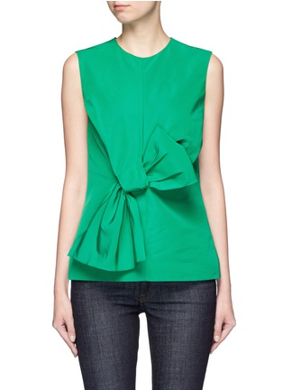 Main View - Click To Enlarge - VICTORIA, VICTORIA BECKHAM - Twist bow faille sleeveless top