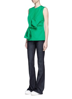 VICTORIA, VICTORIA BECKHAM Twist bow faille sleeveless top