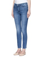 Cotton blend washed jeans