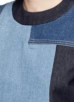 Patchwork denim sleeveless dress