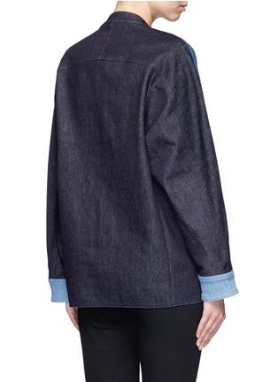 Back View - Click To Enlarge - VICTORIA, VICTORIA BECKHAM - Patchwork denim jacket