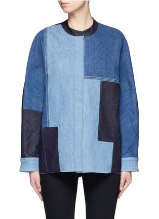 Main View - Click To Enlarge - VICTORIA, VICTORIA BECKHAM - Patchwork denim jacket