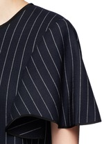 Pinstripe wool blend shift dress