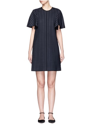 Main View - Click To Enlarge - VICTORIA, VICTORIA BECKHAM - Pinstripe wool blend shift dress