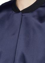 Duchesse satin bomber jacket