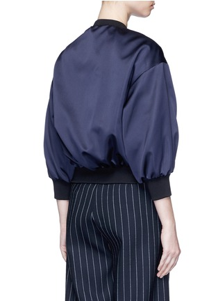Back View - Click To Enlarge - VICTORIA, VICTORIA BECKHAM - Duchesse satin bomber jacket