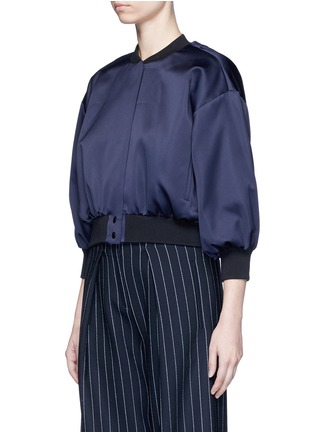 Front View - Click To Enlarge - VICTORIA, VICTORIA BECKHAM - Duchesse satin bomber jacket