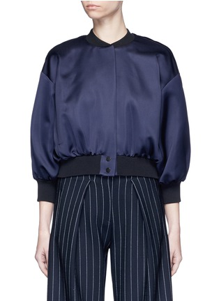 Main View - Click To Enlarge - VICTORIA, VICTORIA BECKHAM - Duchesse satin bomber jacket