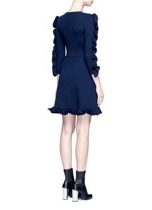 Back View - Click To Enlarge - VICTORIA, VICTORIA BECKHAM - Ruffle trim dress