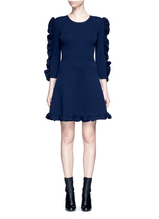 Main View - Click To Enlarge - VICTORIA, VICTORIA BECKHAM - Ruffle trim dress