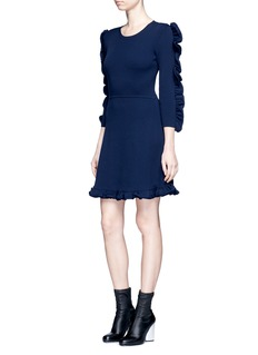 VICTORIA, VICTORIA BECKHAM Ruffle trim dress