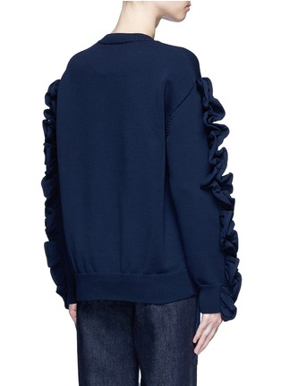 Back View - Click To Enlarge - VICTORIA, VICTORIA BECKHAM - Ruffle sleeve sweater