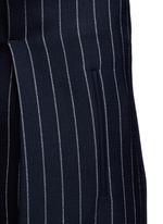 Pinstripe wool blend slouch pants