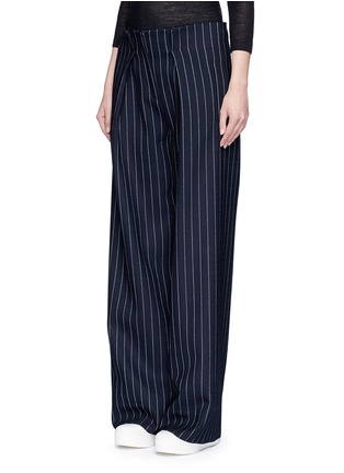 Figure View - Click To Enlarge - VICTORIA, VICTORIA BECKHAM - Pinstripe wool blend slouch pants
