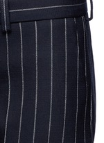 Pinstripe wool blend cropped pants