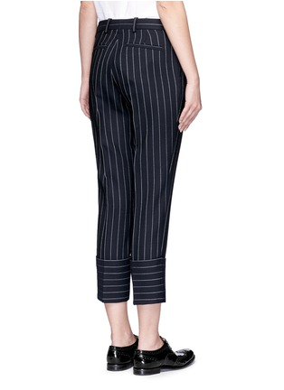 VICTORIA, VICTORIA BECKHAM - Pinstripe wool blend cropped pants