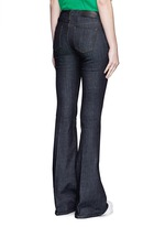Cotton blend flared jeans