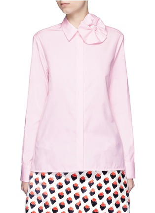 Main View - Click To Enlarge - VICTORIA, VICTORIA BECKHAM - Butterfly bow poplin shirt