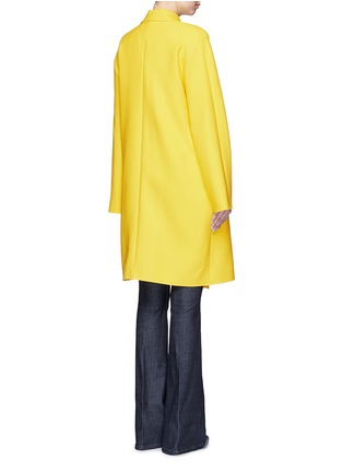 Back View - Click To Enlarge - VICTORIA, VICTORIA BECKHAM - Tie front twill coat