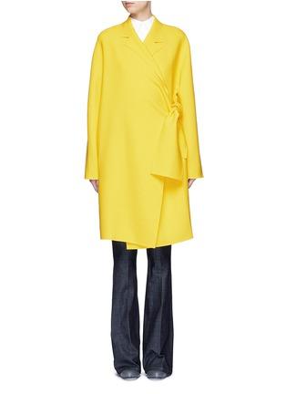 VICTORIA, VICTORIA BECKHAM-Tie front twill coat