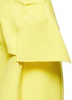 Tie front twill skirt