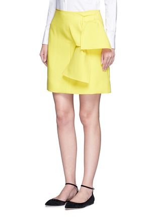 Front View - Click To Enlarge - VICTORIA, VICTORIA BECKHAM - Tie front twill skirt