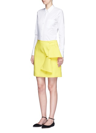 Figure View - Click To Enlarge - VICTORIA, VICTORIA BECKHAM - Tie front twill skirt