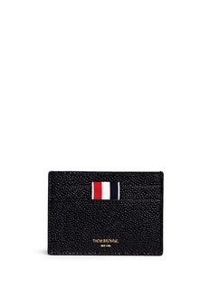 Thom Browne Pebble grain leather cardholder