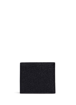 Back View - Click To Enlarge - Thom Browne - Pebble grain leather bifold wallet