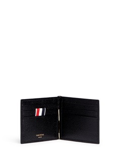 Thom Browne Pebble grain leather money clip wallet