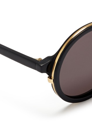 Detail View - Click To Enlarge - SUNDAY SOMEWHERE - 'Soleil' round frame acetate sunglasses
