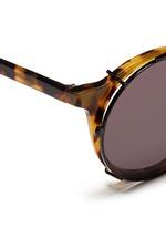 'Matahari' clip-on wire rim round sunglasses