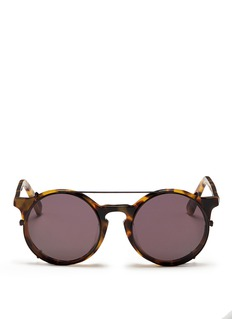 Sunday Somewhere 'Matahari' clip-on wire rim round sunglasses