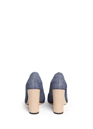 Back View - Click To Enlarge - Jimmy Choo - 'Laria 100' wood heel denim pumps