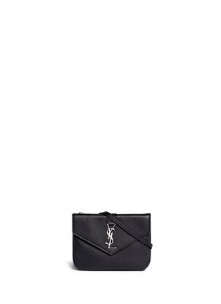 SAINT LAURENT-品牌标志真皮单肩包