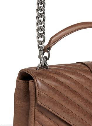 - Saint Laurent - 'Monogram Collège' medium matelassé leather bag