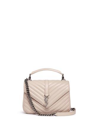 Main View - Click To Enlarge - SAINT LAURENT - 'Monogram Collège' medium matelassé leather bag
