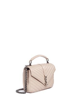 Figure View - Click To Enlarge - SAINT LAURENT - 'Monogram Collège' medium matelassé leather bag
